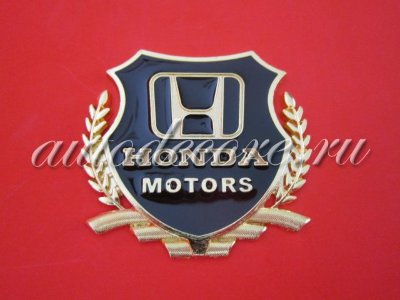 Герб Honda motors gold 54х50мм металл