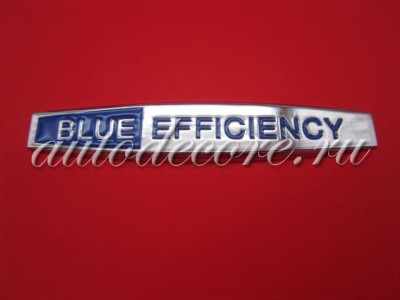Эмблема BlueEFFICIENCY металл хром 98х18 мм
