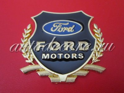 Герб Ford motors gold металл 54х50мм