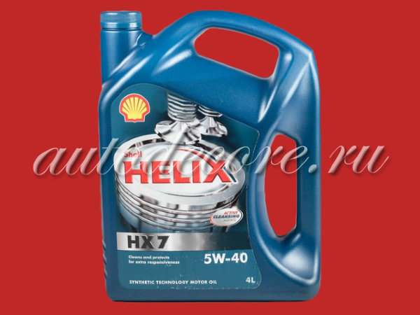 SHELL Helix HX-7 5W40 Масло моторное п/синт. A3/B4 SN 4л.