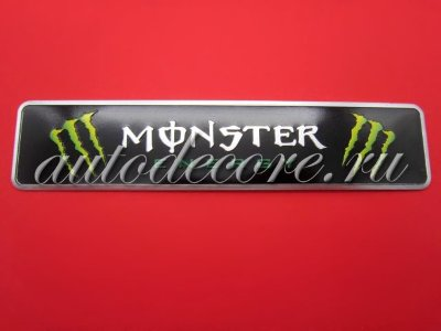 Шильдик Monster Energy 120x26 мм