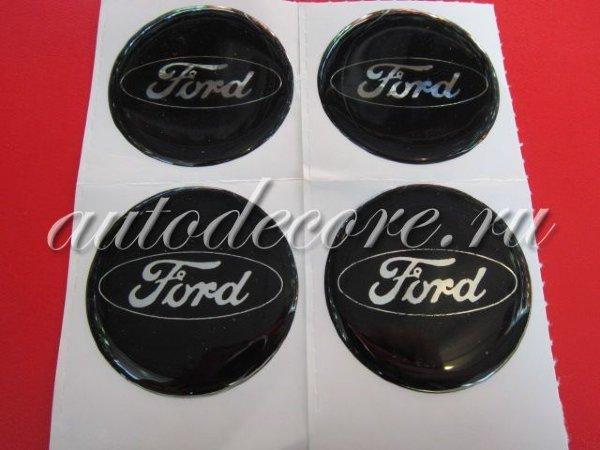 Наклейки Ford D-45 мм силикон черные