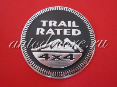 Эмблема Trail Rated 4x4 black D-60 мм металл