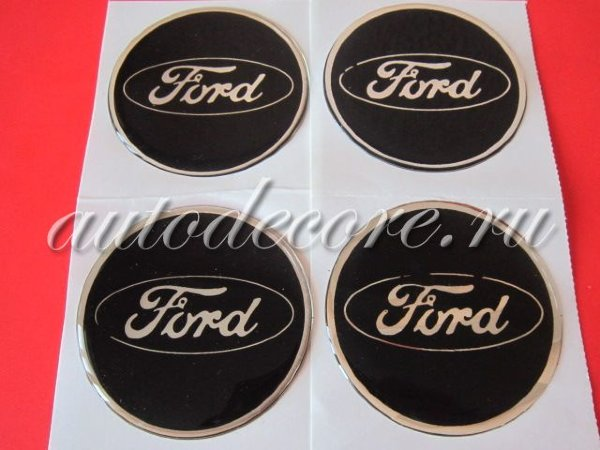 Наклейки Ford D-60 мм силикон черные